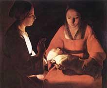Georges de La Tour: nativité. 1640. Huile sur toile, 76 x 91cm. Musée des Beaux-Arts, Renne