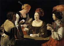 Georges de La Tour: l'escamoteur à l'as de carreau. 1635. Huile sur toile, 106 x 146cm. Paris, Musée du Louvre