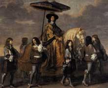 Charles Lebrun: le chancelier Séguier lors de l'entrée de LouisXIV à Paris. 1655-1665. Huile sur toile, 295 x 351cm. Paris, musée du Louvr