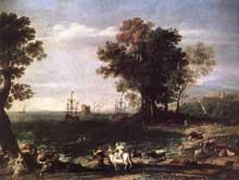 Claude Gellée «Le Lorrain»: paysage avec Acis et Galatée. 1657. Huile sur toile, 100 x 135cm. Dresde, Gemäldegalerie