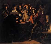 Antoine et Louis le Nain: fumeurs dans un intérieur. 1643. Huile sur toile 117 x 137cm. Paris, Musée du Louvre