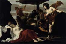 Louis le Nain: Bacchus et Ariane. 1635. Huile sur toile 102 x 152cm. Orléans, musée des beaux Arts