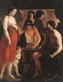 Matthieu Le Nain: Vénus dans la forge de Vulcain. 1641. Huile sur toile, 150 x 116,8cm. Reims, Musée saint Denis