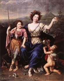 Pierre Mignard: la marquise de Seignelay et deux de ses filles. 1691. Huile sur toile, 194 x 155cm. Londres, National Gallery