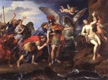 Pierre Mignard: Persée et Andromède. 1679. Huile sur toile, 150 x 198cm. Paris, Musée du Louvr