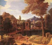 Francisque Millet: paysage imaginaire. 1600. Huile sur toile, 57 x 66,5cm. Budapest, Musée des Beaux Arts