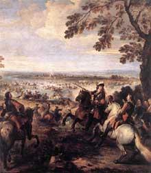 Joseph Parrocel le Vieux: le passage du Rhin en 1672. Vers 1699. Huile sur toile, 234 x 164cm. Paris, Musée du Louvre