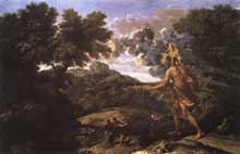 Nicolas Poussin : Paysage avec Diane et Orion. 1660-1664. Oil on canvas, 119 x 183cm. New York, Metropolitan Museum of Art