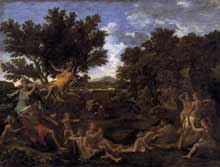 Nicolas Poussin : Apollon et Daphné. 1664.Oil on canvas, 155 x 200cm. Paris, Musée du Louvre