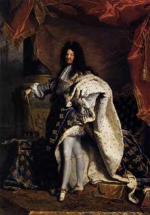Hyacinthe Rigaud: Portrait de Louis XIV. 1701. Huile sur toile, 279 x 190cm. Paris, musée du Louvr