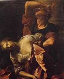 Antoine Rivalz: La Mort de Paetus. Huile sur toile, 123 x 103cm. Paris, collection Changeux