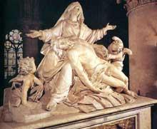 Nicolas Coustou: piéta. 1712-1728. Marbre, 230 x 280cm. Paris, Notre Dame