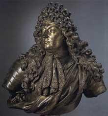 Antoine Coysevox: buste de Louis XIV. 1680. Marbre. Palais de Versailles.