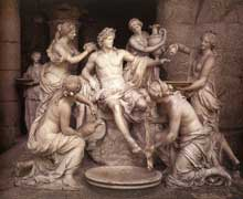 Apollon et les Nymphes. 1666-1673. Marbre. Grandeur réelle. Versailles, grotte d'Apollon