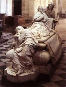 François Girardon: monument funéraire de Richelieu. 1675-1694. Marbre. Paris, église de la Sorbonne