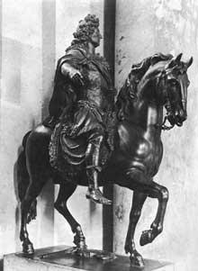 François Girardon: statue équestre de LouisXIV de la Place Louis le Grand (Vendôme). 1699. Bronze. Paris, musée du Louvre
