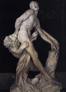Pierre Puget: Milon de Crotone. 1671. Marbre, 269cm. Paris, musée du Louvre