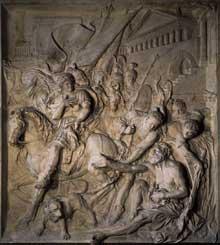 Pierre Puget: Alexandre et Diogène. 1671-1689. Marbre, 332 x 296cm. Paris, musée du Louvre