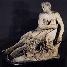 Pierre Puget: «Hercule gaulois». 1661. Marbre, 180cm. Paris, musée du Louvre