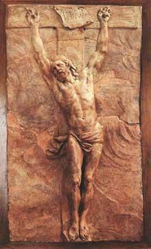 Le Christ mourant sur la croix. Terre cuite, 85,8 x 43,3cm. Paris, musée du Louvre