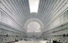 Etienne Louis Boullée (1728-1799): Projet de bibliothèque Royale place Vendôme. 1792