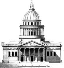 Jacques Germain Soufflot (1713-1780): Façade principale de l'église Sainte-Geneviève (Panthéon)
