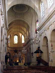 Jacques Hardouin-Mansart de Sagonne (1709-1776): la cathédrale saint louis de Versailles. 1766. L'intérieur