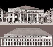 Charles de Wailly (1730-1798): théâtre de l'Odéon de paris. Elévation