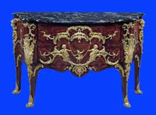 Charles Cressent (1685-1768) : commode Louis XV. 1745-1749. New York, Metropolitan Museum