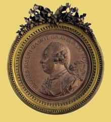 Jean-Baptiste Nini (1717-1786): Hugues-Joseph Gamont, graveur du Roi. 1766. Terre cuite, 6.5 x 6.5 in. / 16.5 x 16.5 cm