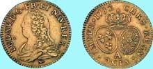 Charles Norbert Ro�ttiers�: Louis d'or ��aux lunettes�� (Louis XV), 173