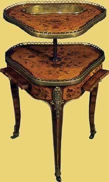 Roger Vandercrusse, dit Lacroix (1728-1779): table à caviar Louis XV. Vers 1755. Hauteur: 80cm