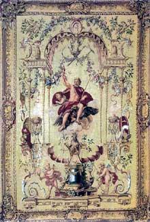 ClaudeIII Audran (1658-1734): série des dieux: Jupiter. 1700s.Tapisserie. Paris, Mobilier National