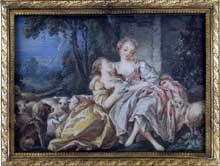 Pierre Antoine Baudoin (1723-1769): le message d'Amour. Paris, musée du Louvre
