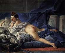 François Boucher (1703-1770): l'odalisque brune.1745, huile sur toile, 53 x 64cm. Paris, Musée du Louvre