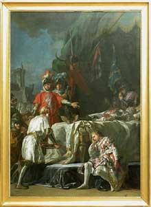 Nicolas Guy Brenet (1728-1792): la mort de Du Guesclin. Paris, Musée du Louvre