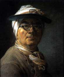 Jean Baptiste Siméon Chardin (1699-1779): autoportrait aux bésicles. 1775; Pastel, 46 x 38 cm. Paris, Musée du Louvr