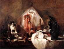 Jean Baptiste Siméon Chardin (1699-1779): la raie. 1728. Huile sur toile, 114 x 146cm. Paris, Musée du Louvre