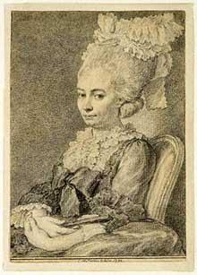Charles-Nicolas Cochin le Fils (1715-1790): portrait d'une jeune femme. Los Angeles, musée Paul Getty
