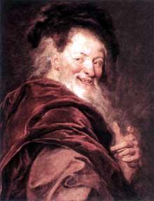Antoine Coypel: Démocrite. 1692; huile sur toile, 69 x 57 cm. Paris, Musée du Louvre.