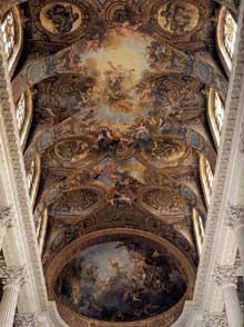 Antoine Coypel: décoration de la voûte de la chapelle du château de Versailles. Fresque. 1709