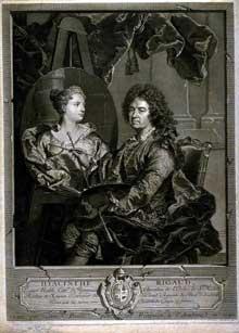 Jean Daullé (1703-1763): Hyacinthe Rigaud. 1742