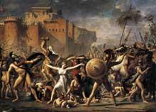 Jacques Louis David (1748-1825): L'enlèvement des Sabines. 1799. Huile sur toile, 385 x 522 cm. Paris, Musée du Louvre