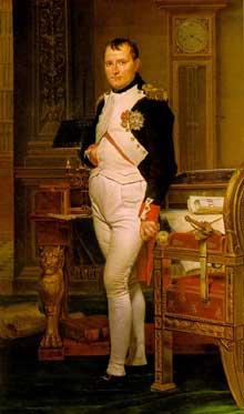 Jacques-Louis David (Paris 1748- Bruxelles 1825) : Napoléon dans son cabinet de travail aux Tuileries. Washington, National Gallery of Art