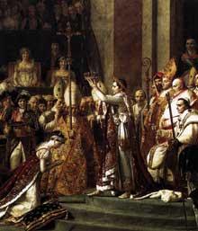 Jacques Louis David (1748-1825): Le sacre de l'empereur Napoléon (détail). 1805-07. Huile sur toile. Paris, Musée du Louvre