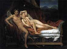 Jacques Louis David (1748-1825): Cupidon and Psyché. 1817. Huile sur toile, 184 x 242 cm. Cleveland, Museum of Art