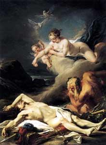 Jean Baptiste Deshayes (1729-1768): Hector aux abords du Xanthe