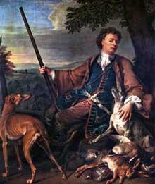 François Desportes (1661-1743): autoportrait en chasseur. Paris, musée du Louvre