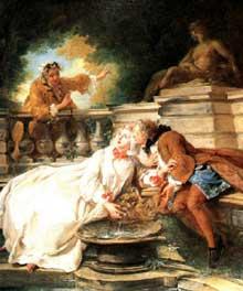 Jean François De Troy (1679-1752): la Gouvernante Fidèle. 1723. Huile sur toile. Londres, Victoria and Albert Museum