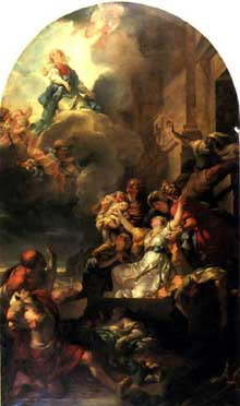 Gabriel François Doyen (1726-1806): le miracle des Ardents. 1767. Paris, église Saint Roch